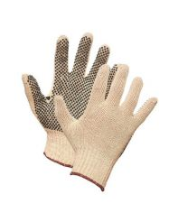 Glove String Knit w\dots one side, Small 1doz