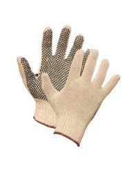 Glove String Knit w\dots one side, Lrg. 1doz