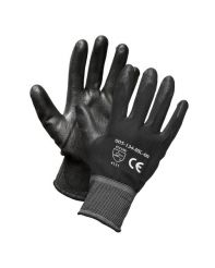 Glove PU Coated Black Nylon Liner Large