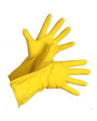 Glove Rubber Latex Yellow Medium 12/bag