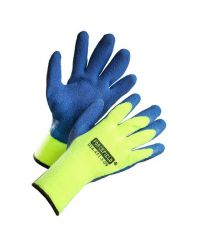 Glove Winter Series Latex coated nylon liner Terry cloth Ins. Large