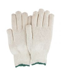 Glove String Knit no dots doz Large