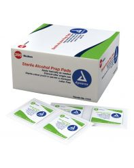 ALCOHOL PREP Pad Box of 100