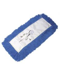 "Dust Mop,5""x18"" Hi Stat Tie On Blue"