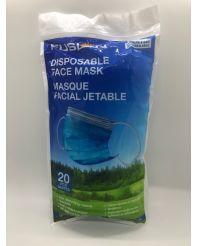 Disposable face mask resealable bag 20/pkg