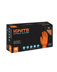 Glove Nitrile Orange Goose Bump 7mil 100/cs Large