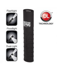 Nightstick, Flashlight, Dual-Light, Black, Battery
