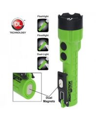Nightstick, Flashlight, Dual-Light, Green, 3 AA Battery
