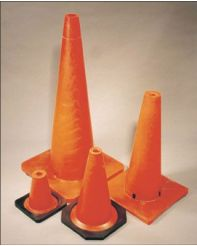 "Traffic Cone 18"" with reflective collar"