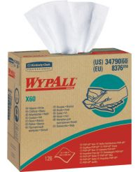 Wiper Wypall x 60 pop up 126sheet