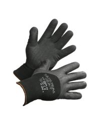 "Glove Winter Black Nitrile Palm, Black Nylon Liner ""Samurai"" Large"